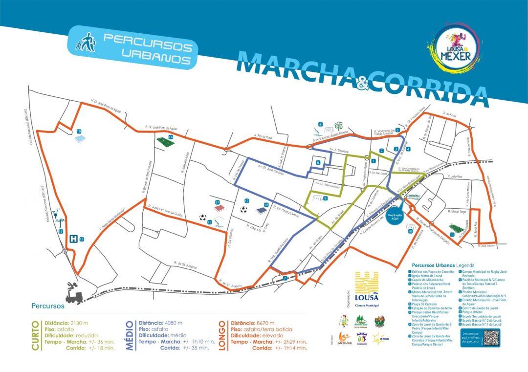 Mapa Percursos Marcha e Corrida