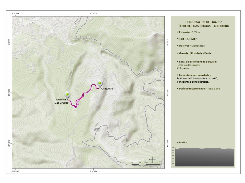 Percurso de BTT - Downhill (XC9) Terreiro das Bruxas-Chiqueiro