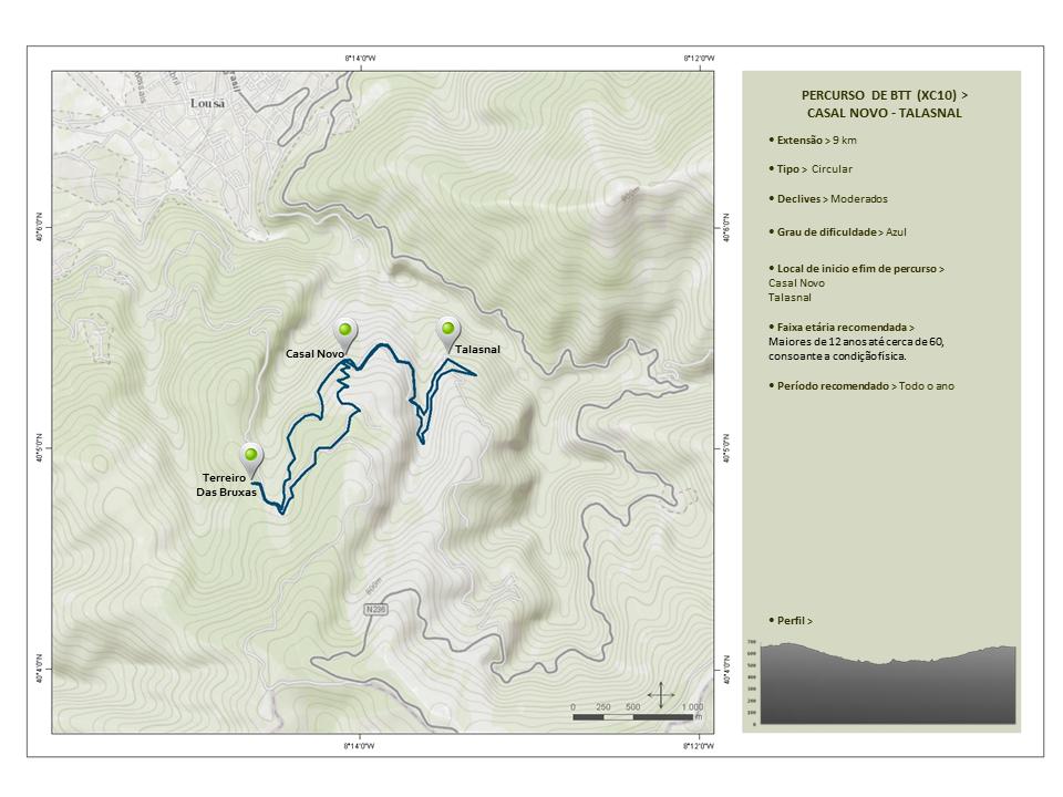Percurso de BTT - Downhill (XC10) Casal Novo-Talasnal