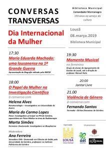 Comemorações do Dia Internacional da Mulher - «Conversas Transversas»