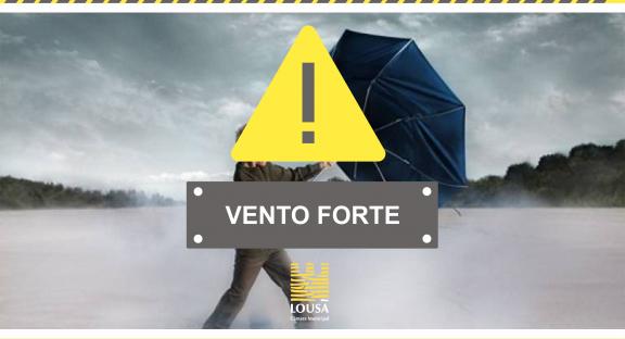 Aviso Amarelo – Vento Forte – 24 e 25 de abril