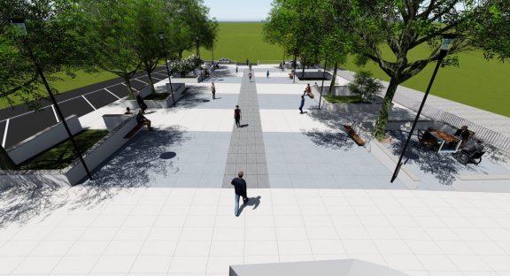 Obras na Praça Cândido dos Reis têm início na próxima semana.