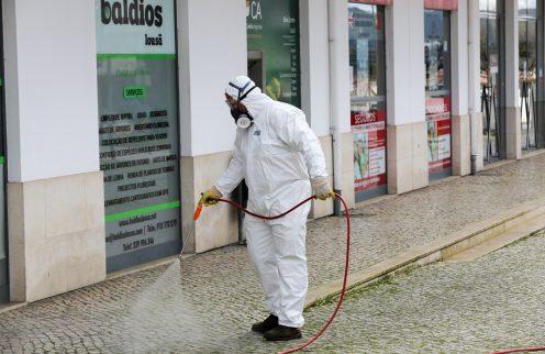 COVID-19- Desinfeção de espaços públicos