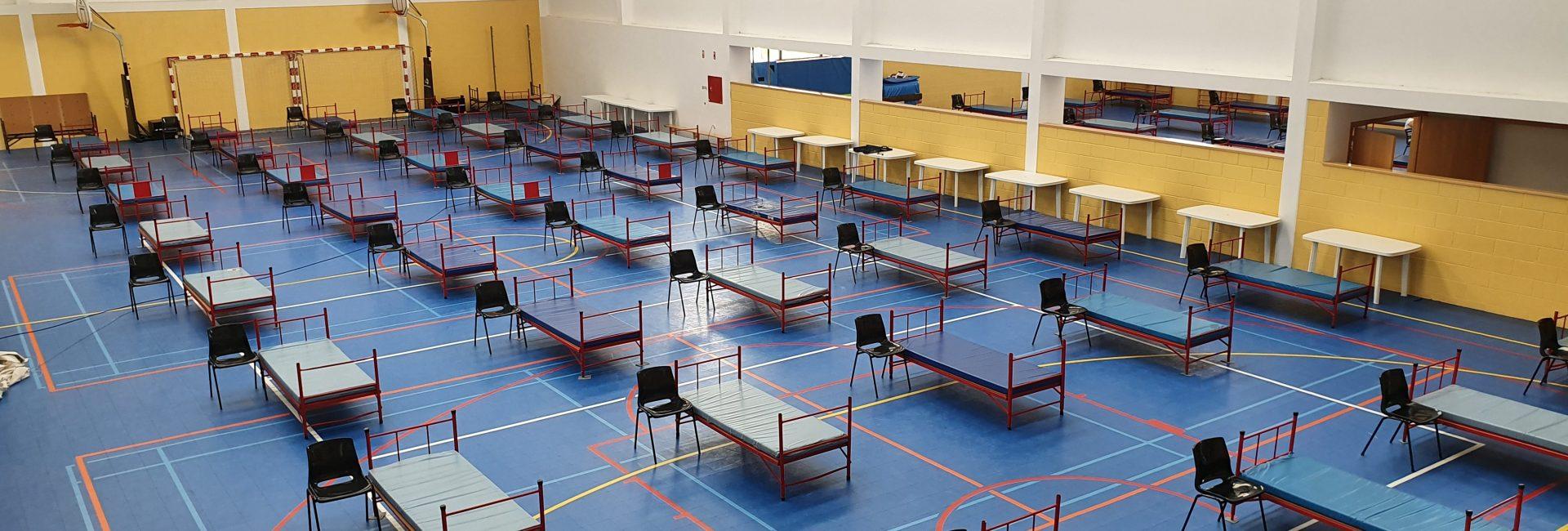 COVID – 19 – Centro de Acolhimento Temporário instalado na Escola Básica N.º 1 da Lousã