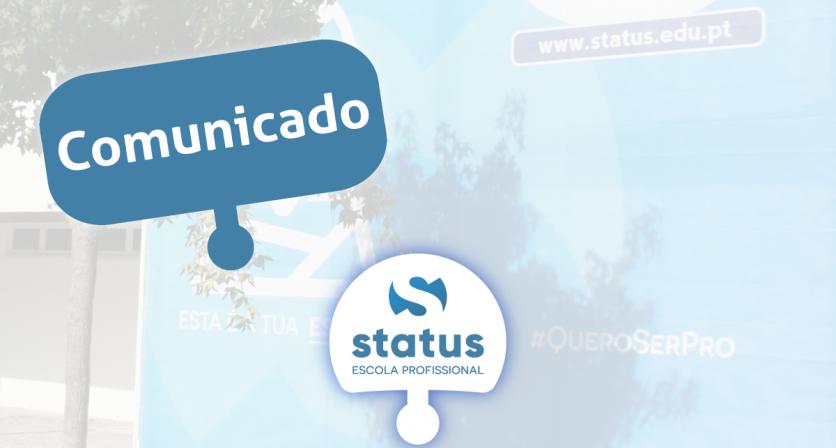 Informação COVID-19 || Status – Escola Profissional da Lousã