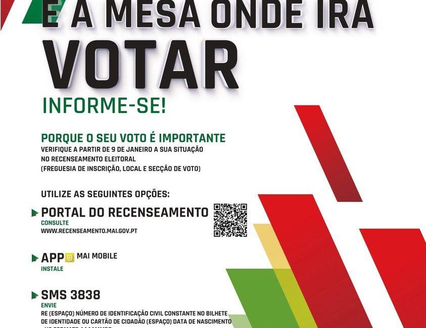 Eleições Presidenciais 2021 – 24 de janeiro – Saiba onde votar!