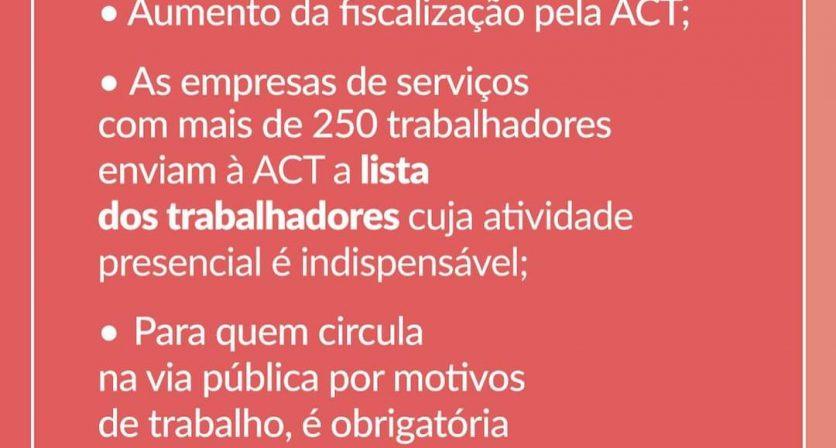 Confinamento - Novas medidas anunciadas hoje pelo Primeiro Ministro, António Costa. 8