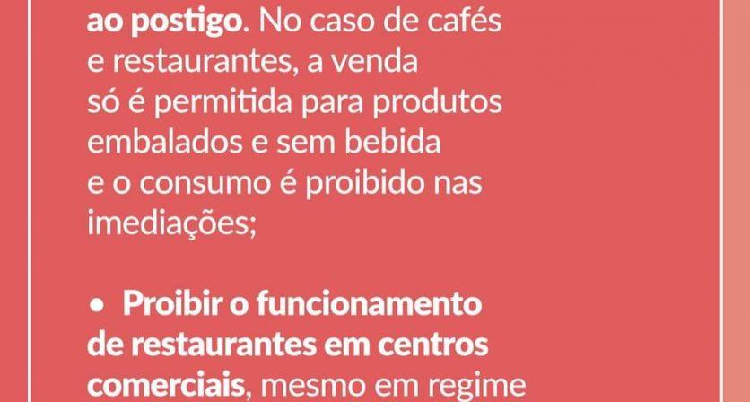 Confinamento - Novas medidas anunciadas hoje pelo Primeiro Ministro, António Costa.