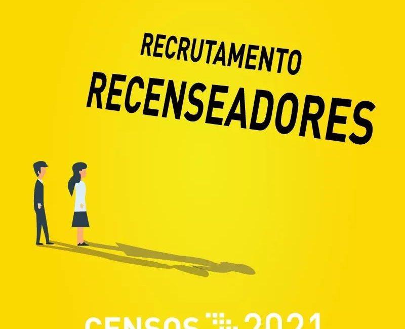 Censos 2021 | Recrutamento de Recenseadores.
