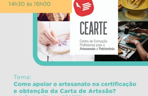 Webinar – Formar e reconhecer os artesãos e certificar produções