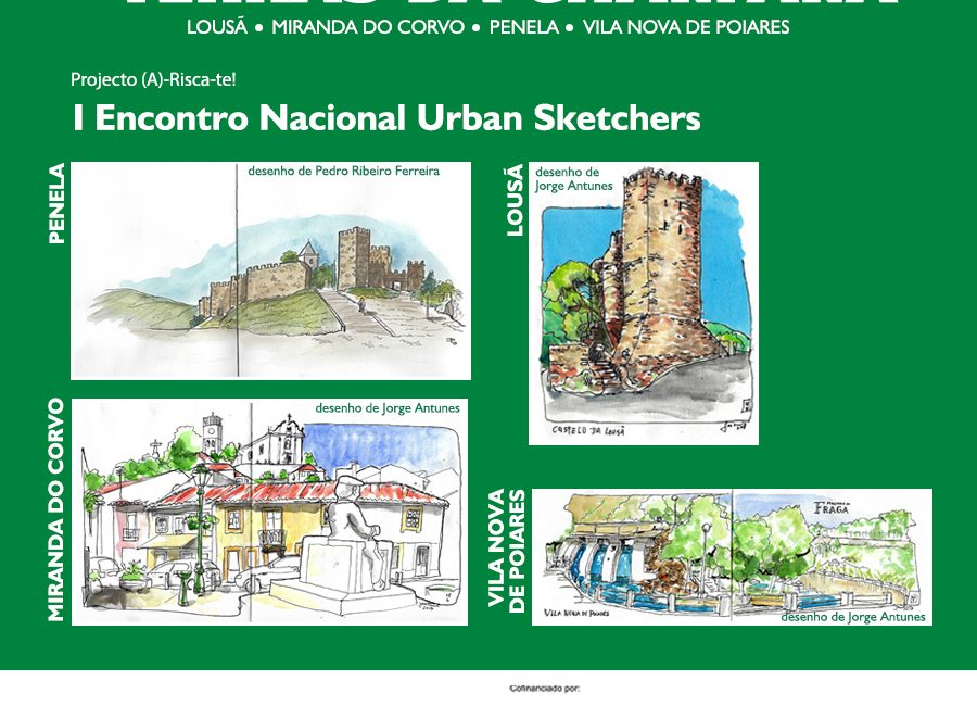 Encontro Nacional de Urban Sketchers, no âmbito da Rede Cultural Terras da Chanfana.