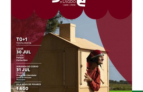 """Festival Artes do Diabo – Peça """"T0 + 1″ – Com Tosta Mista"""""""