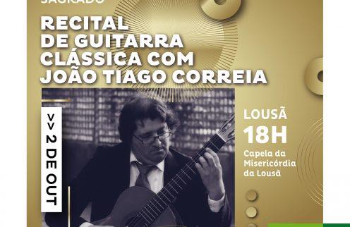 Recital de guitarra clássica – João Tiago Correia