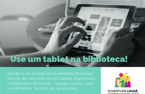 Biblioteca Municipal Comendador Montenegro disponibiliza tablets aos utentes.